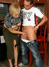 Mature blonde loves a big cock